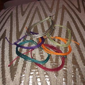 6 Authentic Pura Vida original solid bracelets